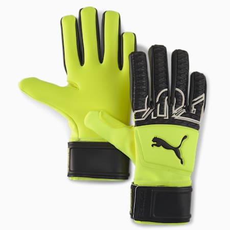 FUTURE Z Grip 3 Negative Cut Goalkeeper Gloves, Yellow Alert-Black-White, small