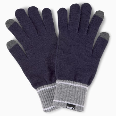 Guantes Knitted, Peacoat-Medium Gray Heather, small