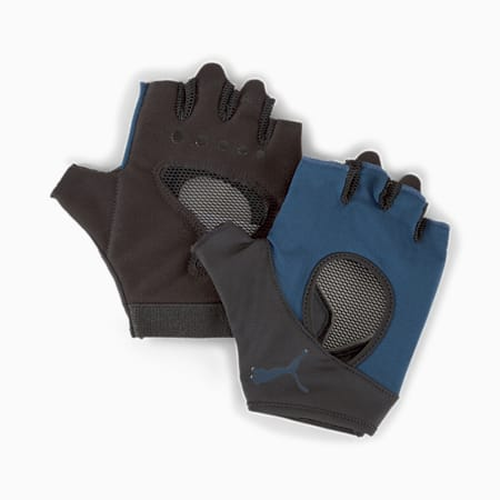 Training Women's Gym Gloves, Intense Blue, small-IND