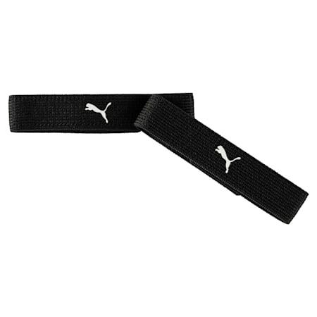 Bande de fixation pour chaussettes de foot étroite, black-white, small