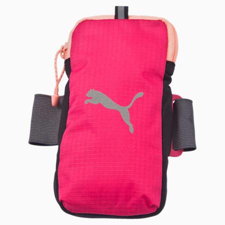 PR Arm Pocket, rose red-fluro peach, small-IND