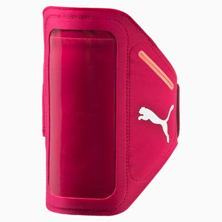 Running iPhone Arm Pocket, rose red-fluro peach, small-IND