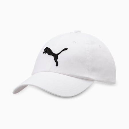 Embroidered Logo Essentials Cap, white-Big Cat, small-IND