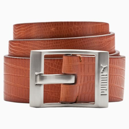 PUMA Style Leather Belt, Biscuit, small-IND