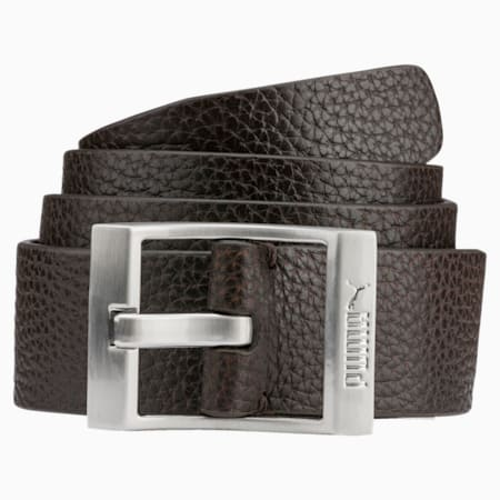 PUMA Style Leather Belt, Chocolate Brown, small-IND