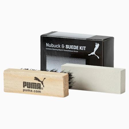 PUMA Shoe Care Block & Brush, black-white, small-IND