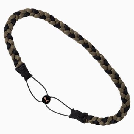 Active Training Women's Braided Headband, Olive Night-Puma Black, small-IND