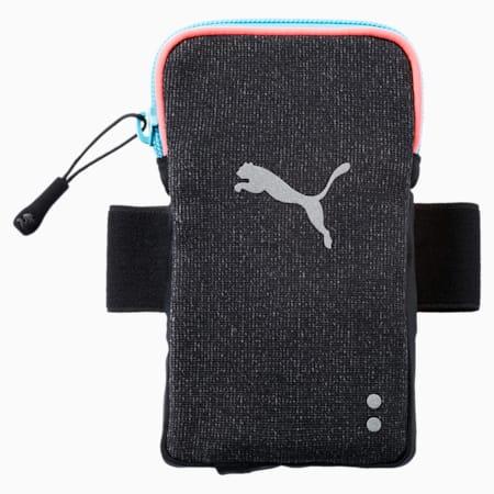 Running Arm Pocket, Puma Black-Peach-turquoise, small-IND