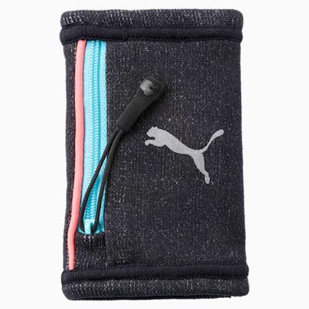 Running Women's Wrist Pocket, Puma Black-Nrgy Peach, small-IND