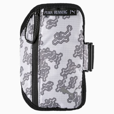 Running Arm Pocket Vertical Zip, Puma White-Asphalt-AOP, small-IND