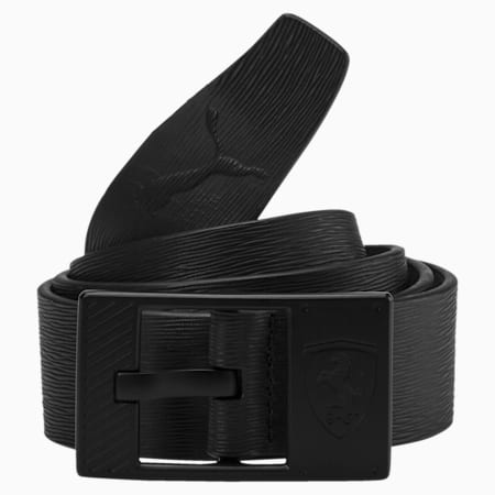 Ferrari Lifestyle Leather Belt, Puma Black, small-IND