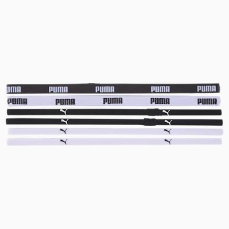 Komplet 6 gumek treningowych Sportbands, Puma Black-Puma White, small