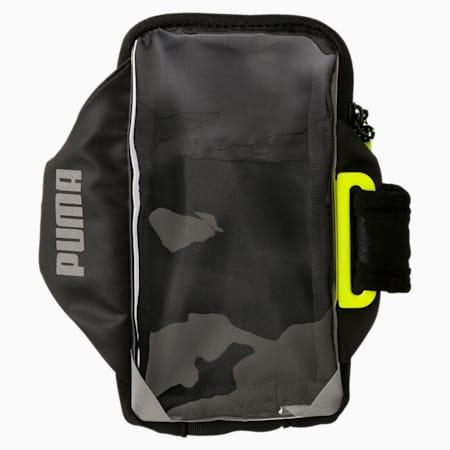 ランニング PR モバイル アームバンド, Puma Black-Yellow Alert, small-JPN