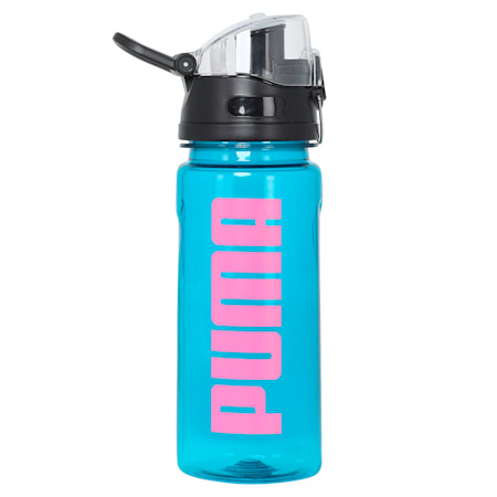 PUMA Sportstyle Unisex Training 600ml Water Bottle, Digi-blue-Luminous Pink, small-IND