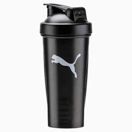 PUMA Shaker Unisex Training 600ml Water Bottle, Puma Black, small-IND