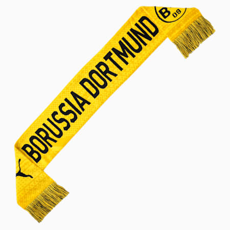 BVB Football Culture Scarf, Cyber Yellow-Puma Black, small