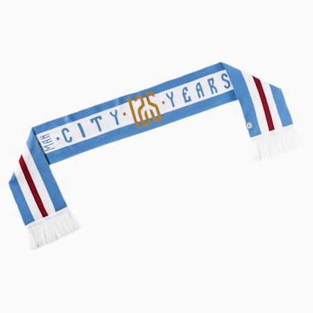 Écharpe Man City 125th Anniversary Fan, Team Light Blue-Puma White, small