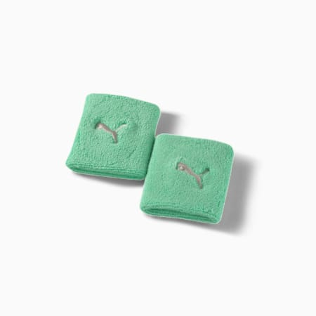 Training Essential Terrycloth Unisex Wristband, Green Glimmer, small-IND