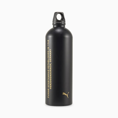 Botella de agua de entrenamiento de acero inoxidable, Puma Black, small