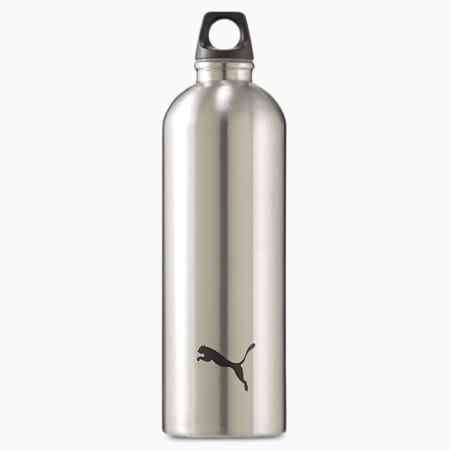 PUMA Training Stainless Steel Water Bottle, Silver, small
