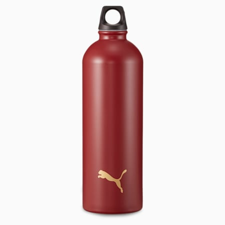 Bouteille à eau en acier inoxydable pour l'entraînement PUMA, Rouge intense, petit