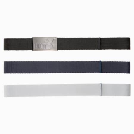 Six Pack Webbing Men's Golf Belt, Puma Black-Bright White, small-IND
