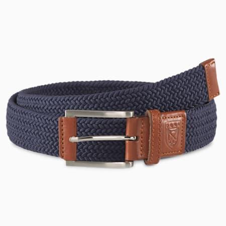 Cinturón de la colección golf para hombre X Weave, Peacoat, small