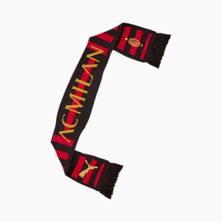 AC Milan 120th Anniversary Fan-tørklæde, Puma Black-Victory Gold, small