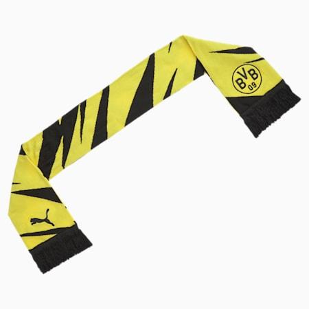 Bufanda de aficionado de fútbol BVB, Puma Black-Cyber Yellow, small