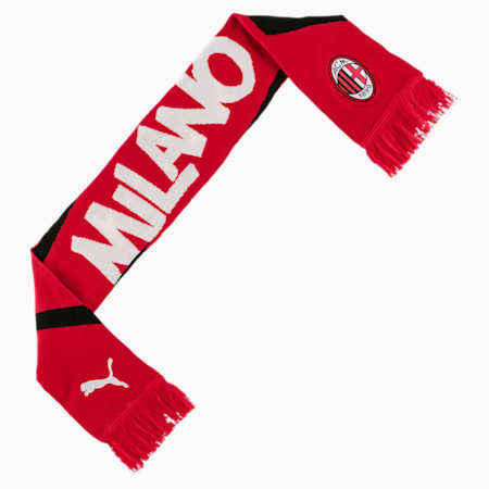 AC Milan ftblCULTURE Football Fan Scarf, Tango Red -Puma Black, small