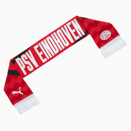 PSV Eindhoven Fan Football Scarf, High Risk Red-Puma white, small