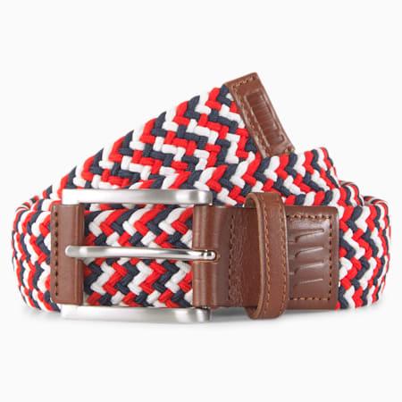 파스 앤 스트라이프스 위브 벨트/Pars and Stripes Weave Belt, Bright White, small-KOR