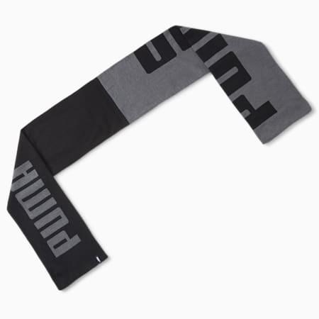Gebreide sjaal, Puma Black-Dark Gray Heather, small