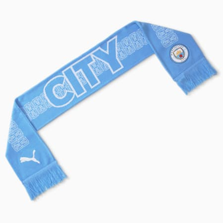 Sciarpa da tifoso di calcio Man City ftblCULTURE, Team Light Blue-Puma White, small