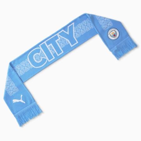 Man City ftblCULTURE Football Fan Scarf, Team Light Blue-Puma White, small