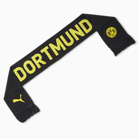 BVB Football Fan Scarf, Puma Black-Cyber Yellow, small-GBR