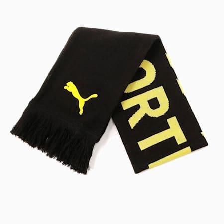 ドルトムント BVB ファンスカーフ, Puma Black-Cyber Yellow, small-JPN