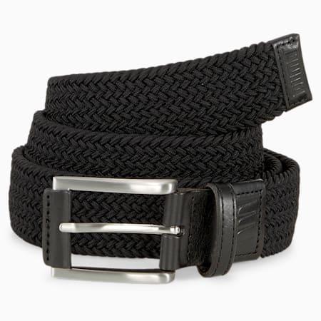 X Weave Men's Golf Belt, Puma Black, small-GBR