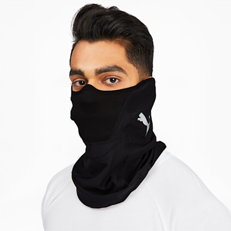 Masque pour le visage Performance, noir PUMA-argent PUMA, petit
