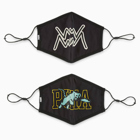 PUMA Face Mask BB (Set of 2), Puma Black-Basketball, small-SEA
