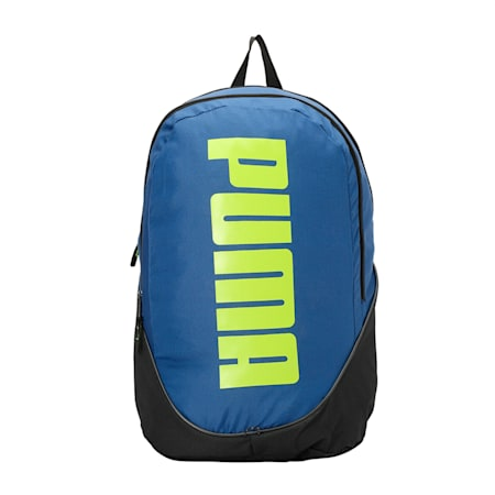 PUMA Pioneer Backpack II, limoges-lime green, small-IND