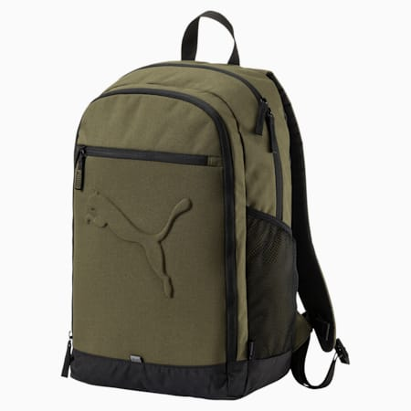 PUMA Buzz Reflective Unisex Durabase Backpack, Olive Night, small-IND