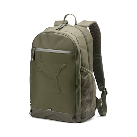 PUMA Buzz Reflective Unisex Durabase Backpack, Forest Night, small-IND