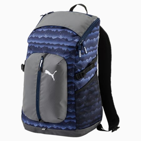 PUMA Apex Backpack, Blue Depths-mountain graphic, small-IND