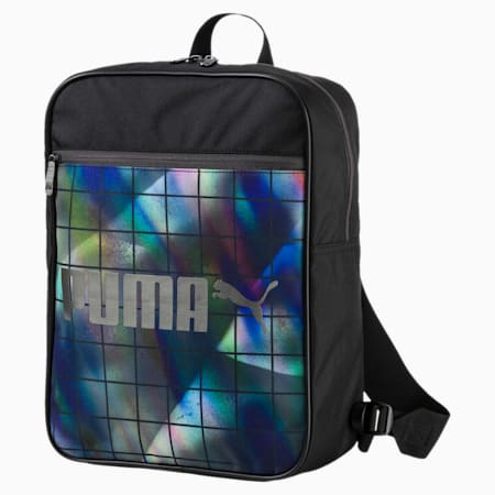 Campus Backpack, Puma Black-Irredescent Graph, small-IND
