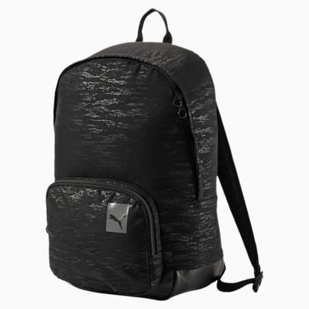 Women's Prime Lux Backpack, Puma Black-graphic, small-IND