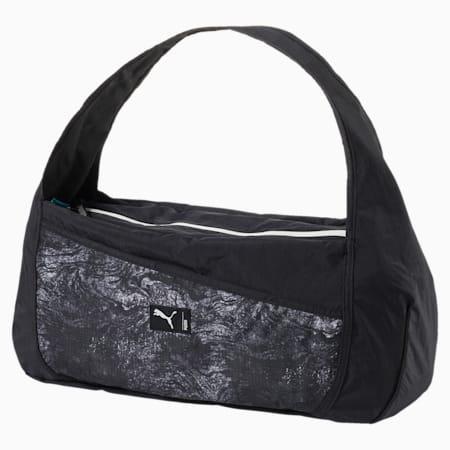 Women's Studio Barrel Bag, Puma Black-Gray-graphic, small-IND