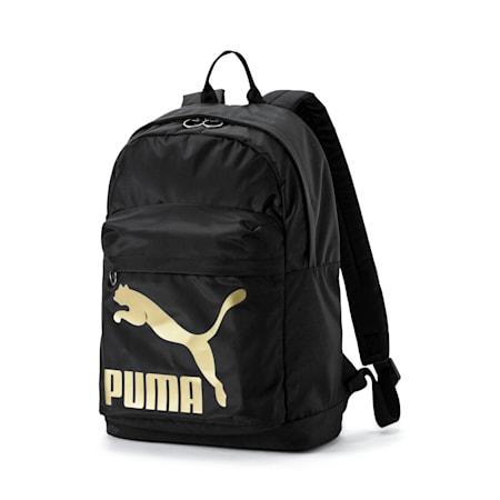 Originals Backpack, Puma Black-Gold, small-SEA