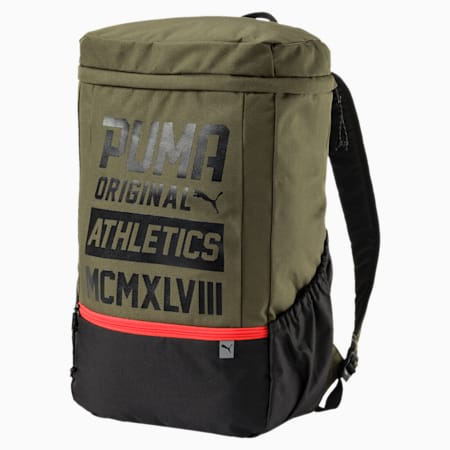 Sole Backpack Plus, Olive Night-Puma Black, small-IND