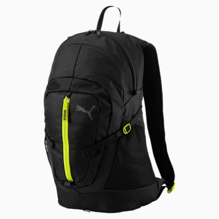 Apex Pacer Backpack, Puma Black-Nrgy Yellow, small-IND